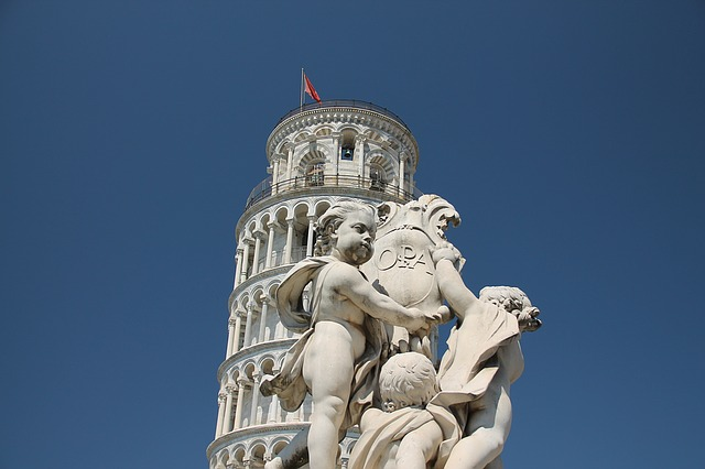 Tower, Pisa, Statue, Sculpture, Monument, Italy