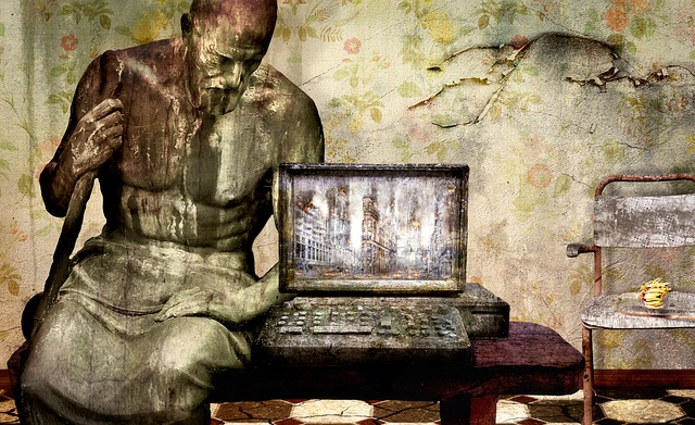 Fantasy, Computer, Statue, Space, Weathered, Old