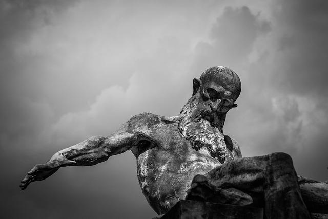 Cloudy, Overcast, Sculpture, Statue