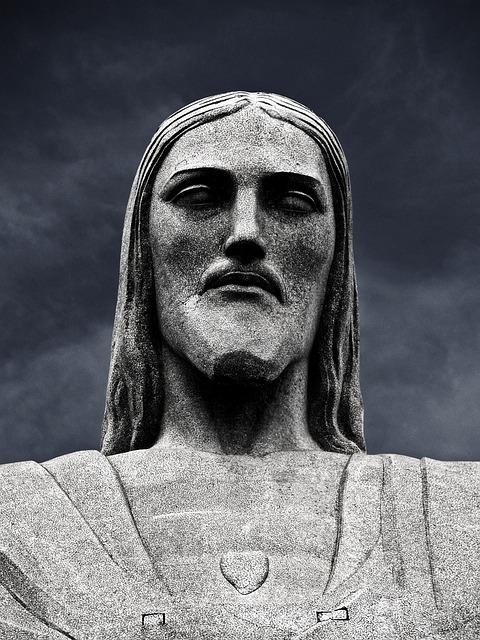 Rio De Janeiro, Jesus, Statue, Portrait, Monument
