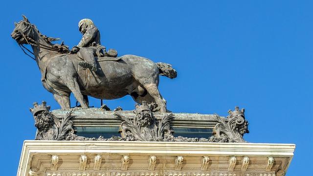 Madrid, Statue, Horse, Sculpture