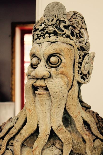 Confucius, Statue, China, Sculpture, Stone Figure