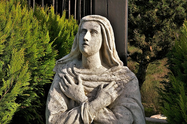 Sculpture, Statue, Statue Of Mary, Old, Stone Figure