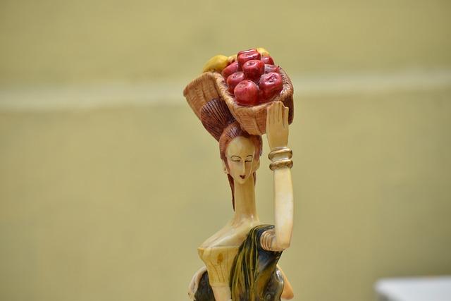 Fruit Seller, Woman, Statue