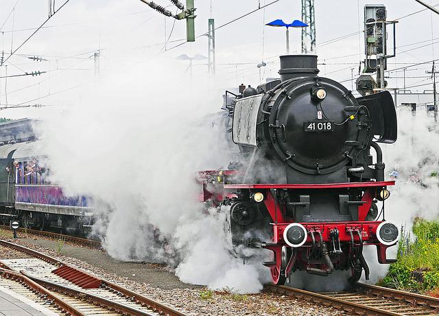 Steam Locomotive, Departure, Steam Cloud, Special Train