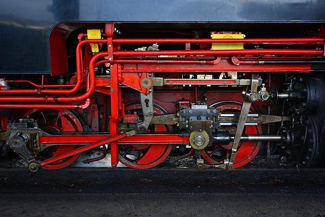Steam Locomotive, Close Up, Linkage, Technology