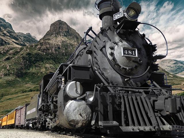 Railway, Steam, Locomotive, Old, Steam Locomotive
