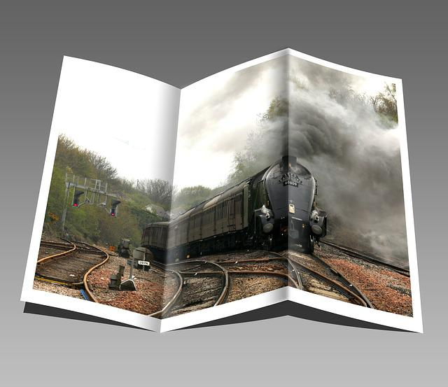 Booklet, Pamphlet, Train, Engine, Locomotive, Steam