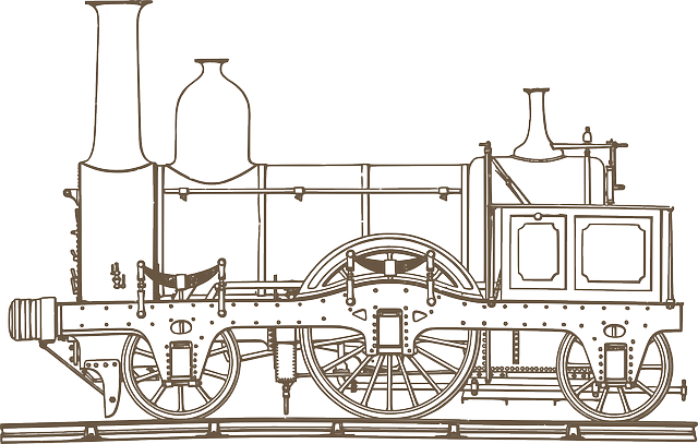 Locomotive, Drawing, Steam, Engine, Old, Railway