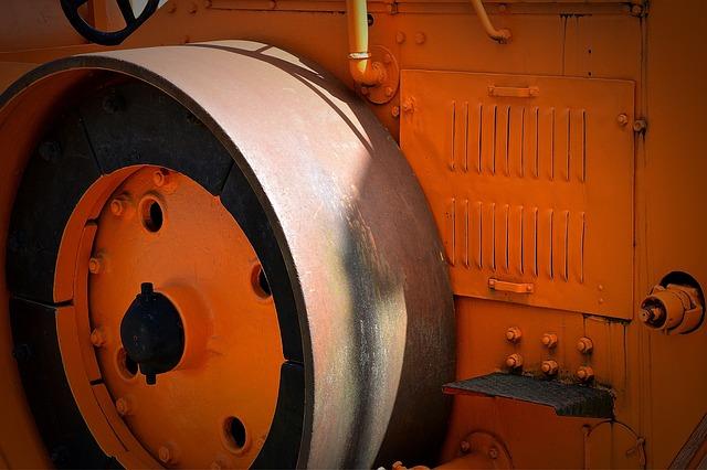 Steam Roller, Construction Machine, Iron Wheels