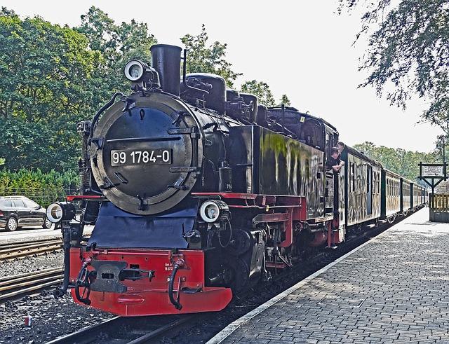 Steam Train, Rasender Roland, Narrow Gauge Railway