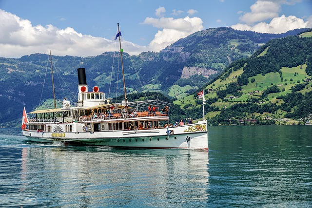 Steamboat, Lake Lucerne Region, Paddle Steamer