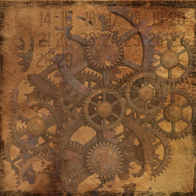 Background, Steampunk, Gears, Grunge, Industrial