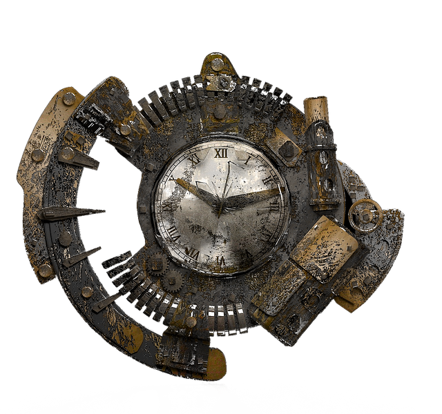 Isolated, Steampunk, Clock, Grunge, Fantasy, Old