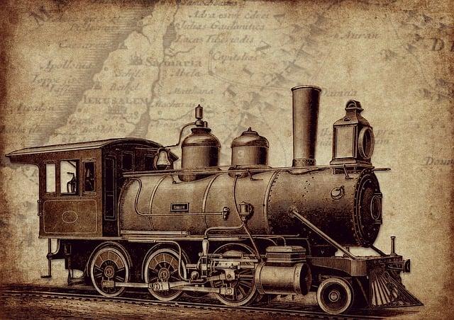 Vintage, Locomotive, Mogul, Steampunk, Railway