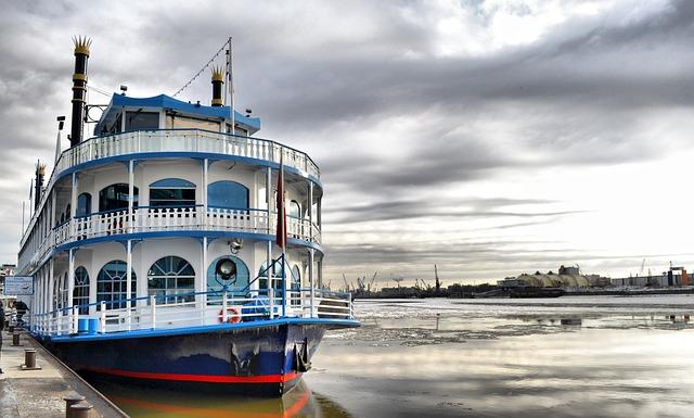 Ship, Port, Paddle Steamer, Steamship, Paddle Wheeler