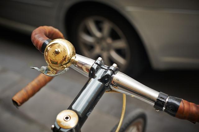 Bicycle, Bike, Bike Bell, Close-up, Handlebars, Steel