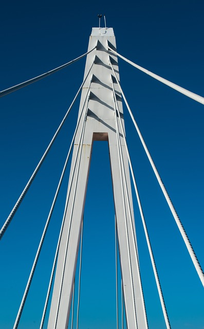 Sky, Steel, Architecture, Contemporary, Rope, Tower