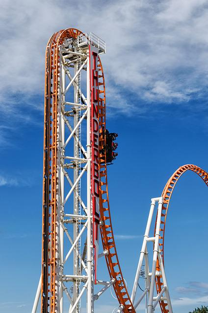 Sky, Steel, High, Structure, Roller Coaster, New York