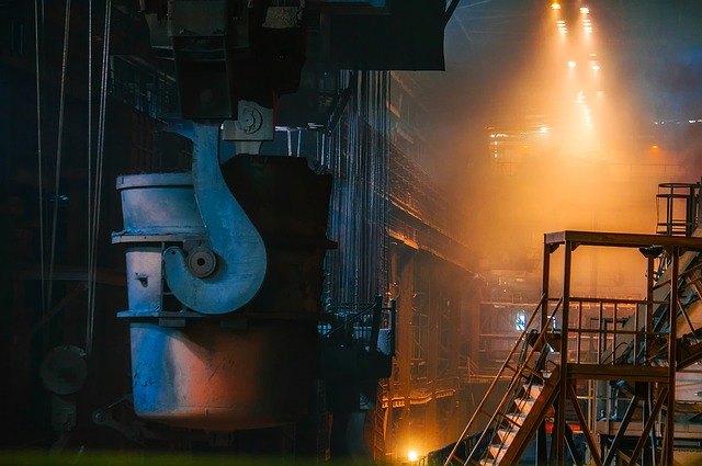 Steel, Manufacturing, Molten, Hot, Inside, Interior