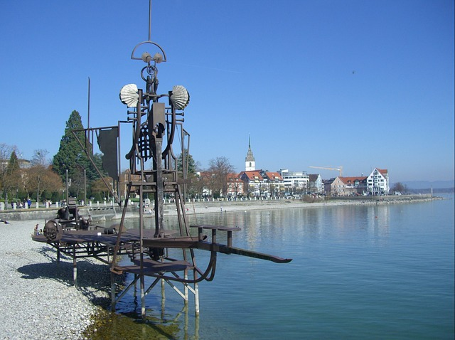 Sound Ship, Construction, Steel, Wood, Lake Constance