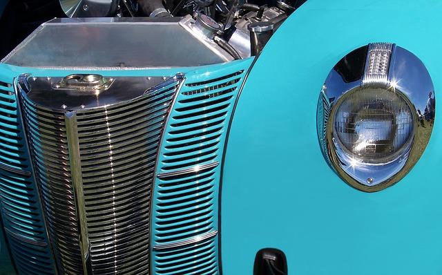 Classic Car, Vintage, Chrome, Steel, Metallic