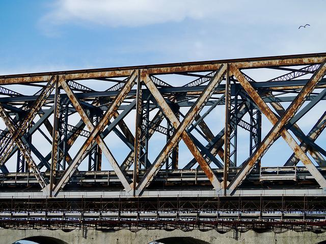 Railway Bridge, Steel, Iron, Stainless, Industry, Genoa