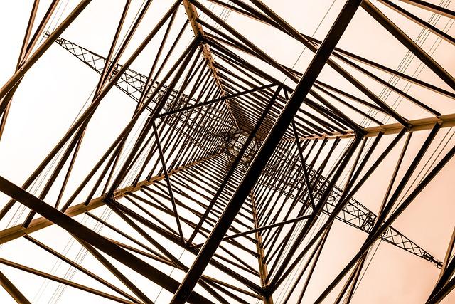Strommast, Power Generation, Steel Scaffolding