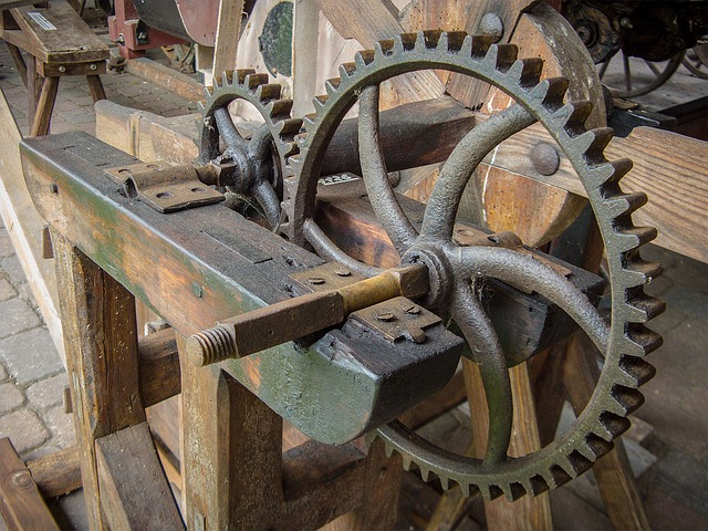 Gear, Gears, Transmission, Antique, Stainless, Steel