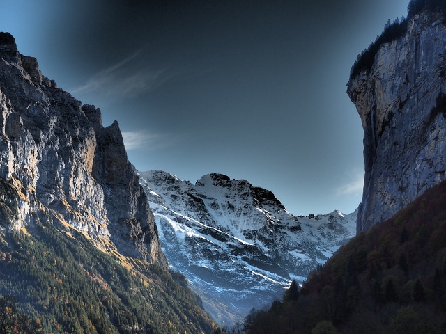Lauterbrunnen, Valley, Eng, Steep, Steep Wall