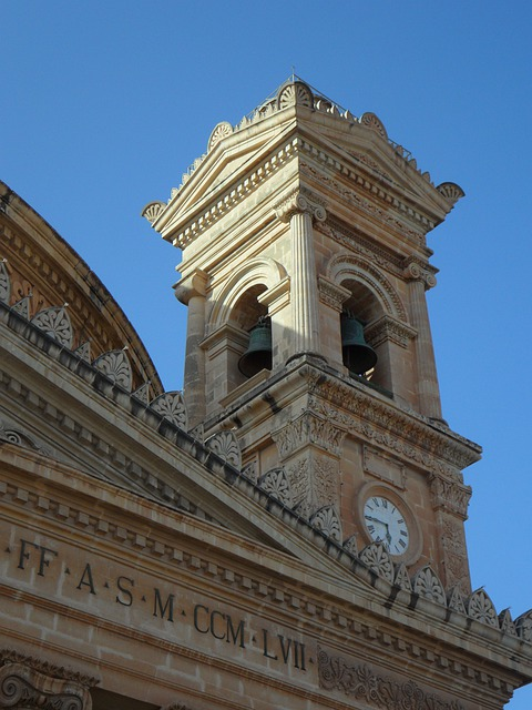 Church, Mosta, Tower, Steeple, Malta