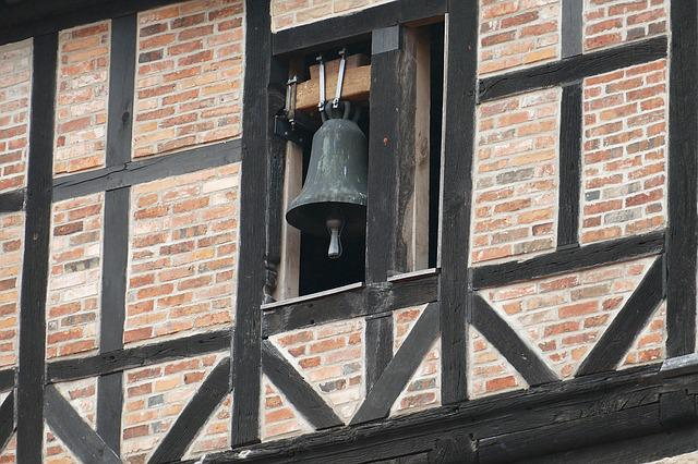 Church Bell, Steeple, Bell, Village, Old Building
