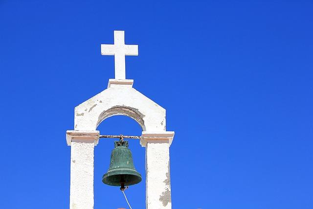 Bell, Steeple, Cross, Sky, Church, Architecture, Faith