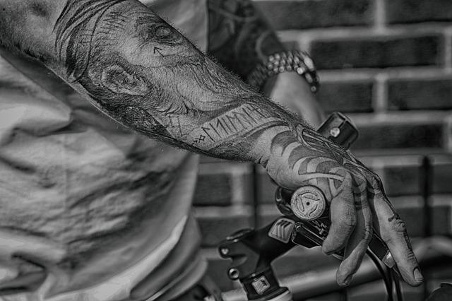 Arm, Hand, Bike, Steering Wheel, Tattoo, Adult