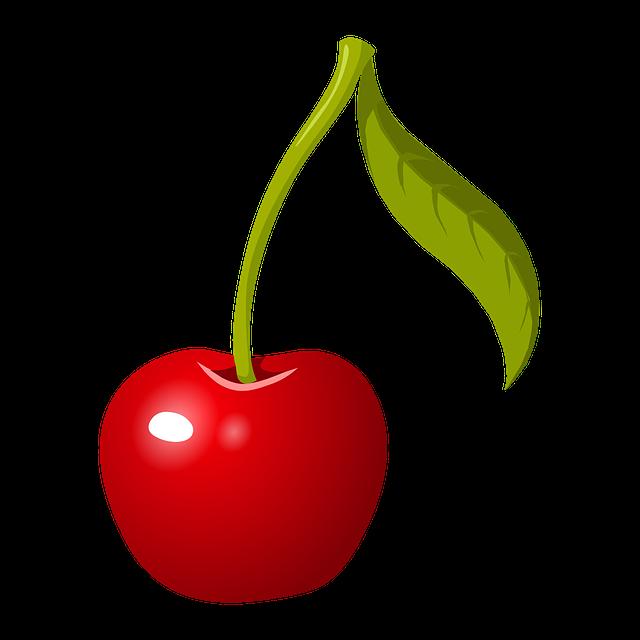 Cherry, Stem, Fruit, Red, Ripe, Fresh, Healthy, Organic
