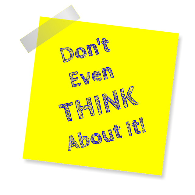 Don't Even Think About It, Reminder, Post Note, Sticker