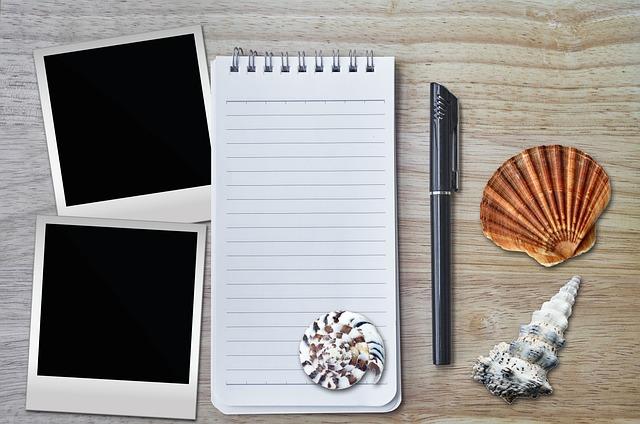 Stickies, Vacations, Memory, Polaroid, Pen, Decorative