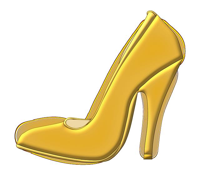 Shoe, High Heeled Shoe, Stack-heel Shoe, Stiletto