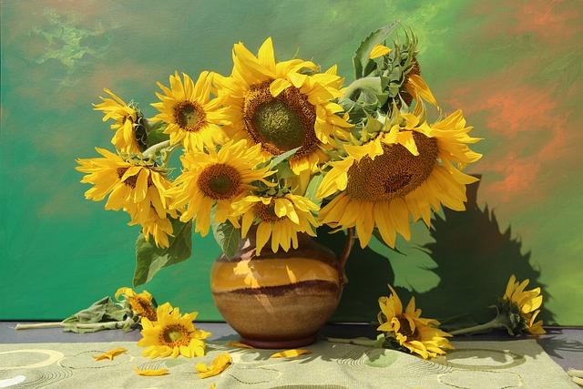 Still Life, Bouquet, Flowers, Close Up, Vase