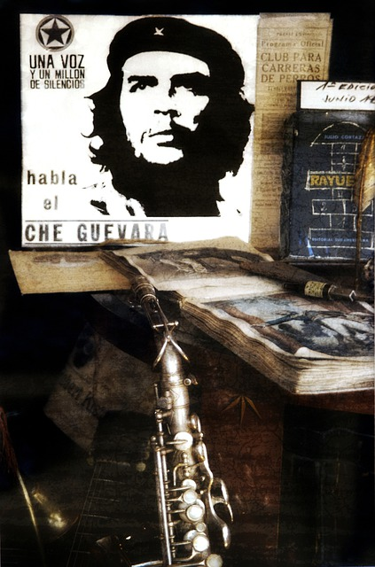 Still Life, Che Guevara, Music, Instrument, Book, Old