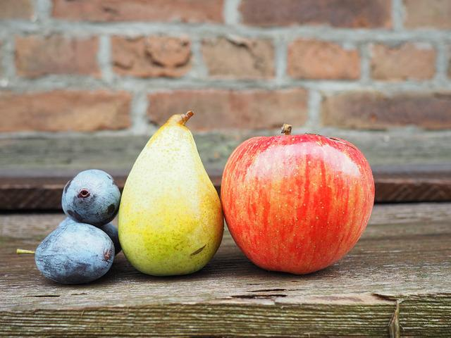 Apple, Pear, Plums, Fruit, Fruits, Still Life