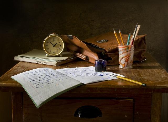 Still Life, School, Retro, Ink