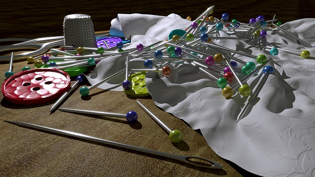 Pins, Sew, Color, Still Life, 3d, Blender