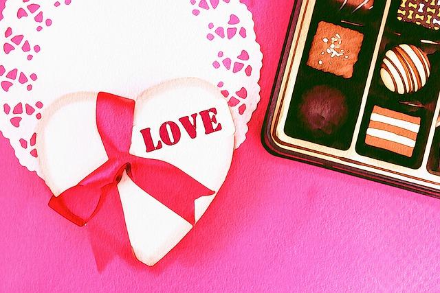 Watercolor, Valentine, Love, Chocolates, Still Life