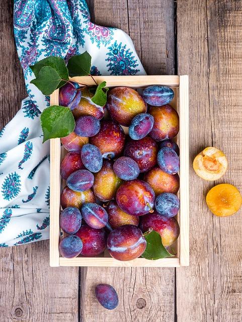 Plum, Fruit, Food, Still Life, Vitamins