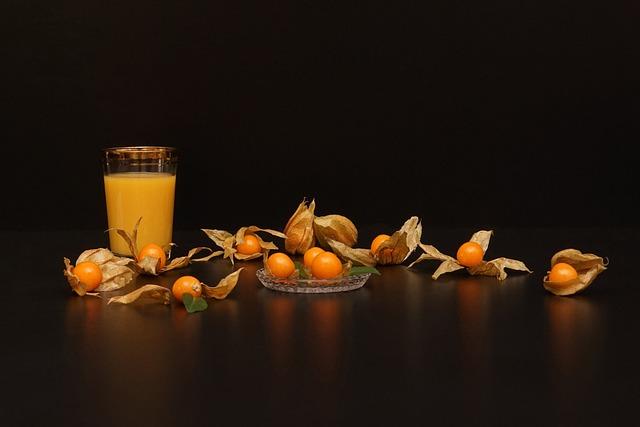 Still Physalis Life, Peruviana, Cape Gooseberry, Drink