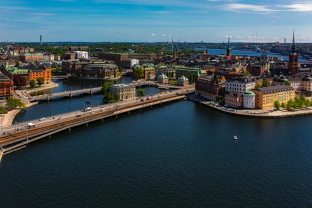 Stockholm, Sweden, City, Urban, Cityscape, Buildings