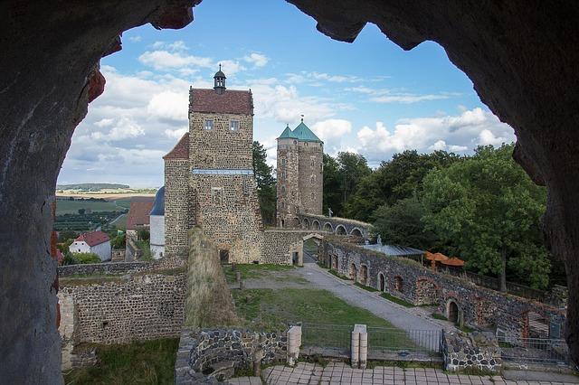 Castle, Burghof, Ruin, Stolpen