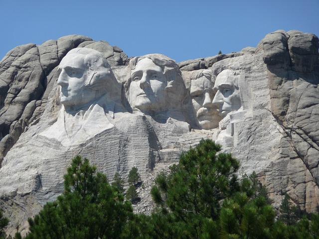 Mountain, Rushmore, Stone Carving, South Dakota, Usa