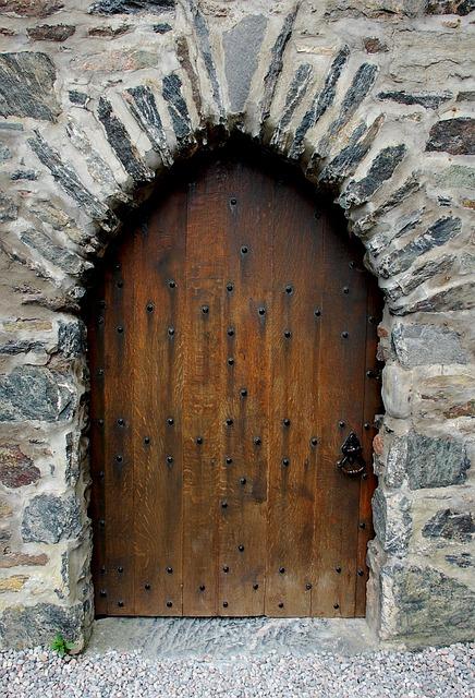 Castle, Door, Scotland, Portal, Stone, Exterior, Arch